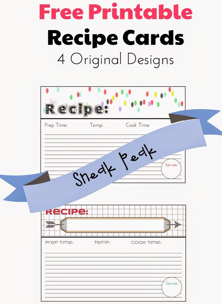 Free printable recipe cards for download; Holey Socks Art