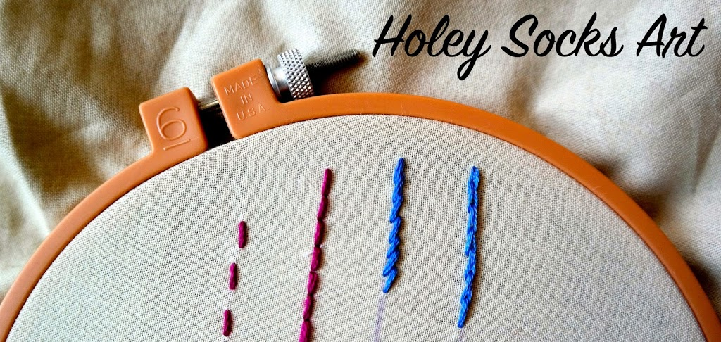 Basic embroidery stitches in easy to follow steps.